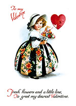 Fresh Flowers and a Little Love (Magazine Art Valentine's Day Greeting Cards)