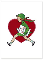 A Valentine for a Friend? (Magazine Art Valentine's Day Greeting Cards)