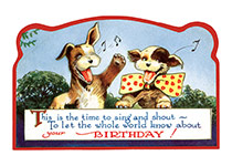 Singing Dogs (Birthday Greeting Cards)