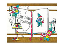 An Open Book of Birthday Greetings