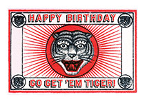 Tiger Matchbox (Birthday Greeting Cards)