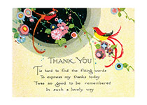 Art Deco Thank You Card (Thank You Art Prints)