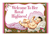 Baby Girl with a Crown (Baby Greeting Cards)
