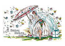 Bride with an Umbrella
