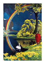 Swan and Rainbow (Sympathy Greeting Cards)