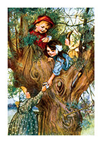 Having Tea in a Tree (Friendship Greeting Cards)