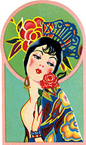 Spanish Senorita (Art Deco Ladies Greeting Cards)