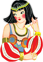 Lady in Egyptian Costume (Art Deco Ladies Greeting Cards)
