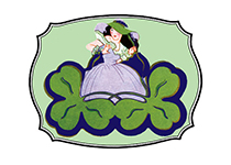 Deco Girl with Two Shamrocks (St. Patrick's Day Greeting Cards)