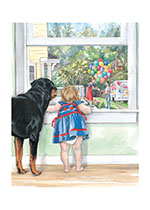 Carl at Window (Good Dog, Carl Greeting Cards)