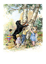 Carl & Kids w Squirrel (Good Dog, Carl Art Prints)
