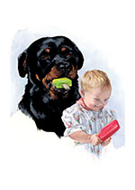 Carl Eating Popsicle (Signed) (Good Dog, Carl Art Prints)