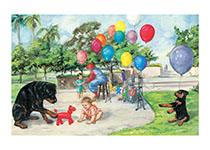 Carl And Balloons (Signed) (Good Dog, Carl Art Prints)