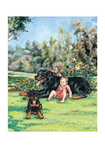 Carl & Puppy in Park (Signed) (Good Dog, Carl Art Prints)