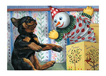 Puppy w Jack-in-box (Good Dog, Carl Greeting Cards)