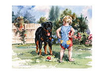 Carl & Toddler (Good Dog, Carl Greeting Cards)