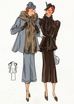 30s Fashion Ladies' Suits (1930s Fashion Fashion Art Prints)