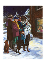 Carl Singing Christmas Carols (Good Dog, Carl Art Prints)