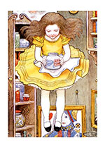 Alice Floating Down (Storybook Classics Greeting Cards)