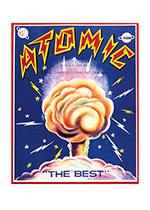 Fireworks Labels, Atomic (Firework Labels 4th of July Greeting Cards)