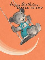 Teddy Bear on a Swing (Birthday Greeting Cards)