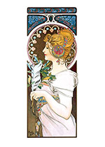 Alphonse Mucha Art Print, The Feather