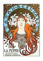 Alphonse Mucha Greeting Card, La Princesse Lointaine (Alphonse Mucha Graphic Design Greeting Cards)