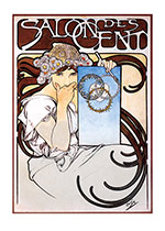 Alphonse Mucha Greeting Card, Salon des Cent (Alphonse Mucha Greeting Cards)