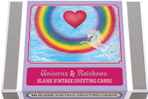 Unicorns and Rainbows! - Blank Greeting Cards