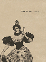 Fancy-Dress Lady (Celebration Greeting Cards)