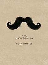 Handlebar Mustache (Birthday Greeting Cards)