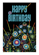 Fireworks (Birthday Greeting Cards)