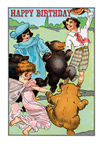 Children Dancing with Bears and a Fairy (Birthday Greeting Cards)