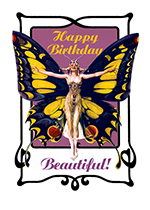 Butterfly Woman (Birthday Greeting Cards)