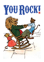 Lion in Rocking Chair With His Children (Father's Day Greeting Cards)