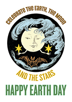 Moon Holding Stars (Earth Day Greeting Cards)