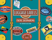 Exotic Destinations Travel Labels