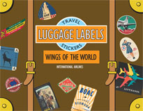 Wings of the World Travel Labels
