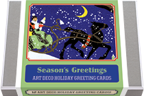 Season's Greetings - Art Deco Christmas Greeting Cards (Packaged and Boxed Christmas Greeting Cards)