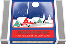 Greetings From Our House to Yours - Vintage Holiday Greeting Cards (Packaged and Boxed Christmas Greeting Cards)