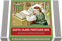 Santa Claus Postcard Box - 36 Unique Vintage Postcards