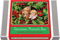 Christmas Postcard Box - 36 Unique Vintage Postcards (Postcards)