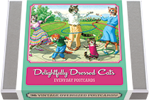 Delightfully Dressed Cats Postcard Box - 36 Unique Vintage Postcards (Postcards)