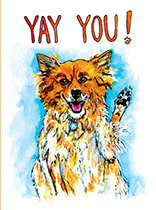 Waving Dog (Encouragement Greeting Cards)