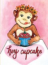 Cupcake Monkey (Birthday Greeting Cards)
