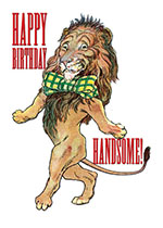 Handsome Lion (Birthday Greeting Cards)