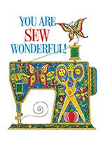 Sewing Machine (Birthday Greeting Cards)