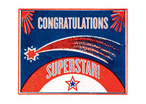 Shooting Star (Congratulations Greeting Cards)