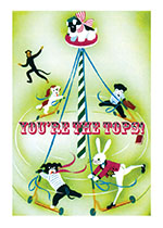 Circus Dog on a Pole (Congratulations Greeting Cards)