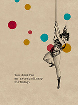 Extraordinary Trapeze Lady (Birthday Greeting Cards)